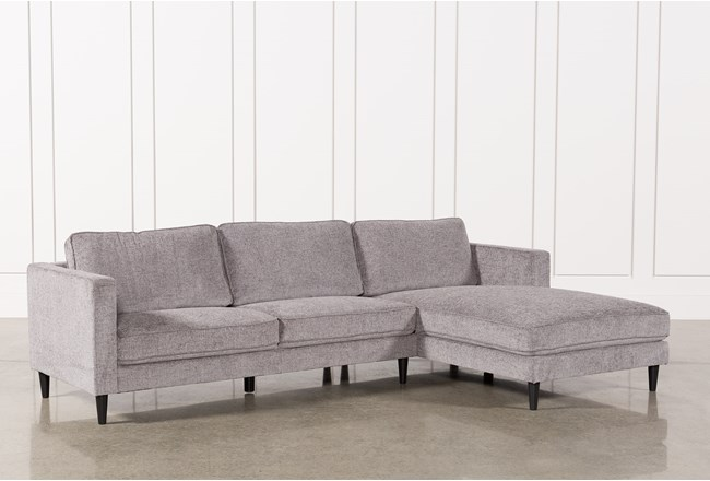Cosmos Grey 2 Piece Sectional With Right Arm Facing Chaise - 360