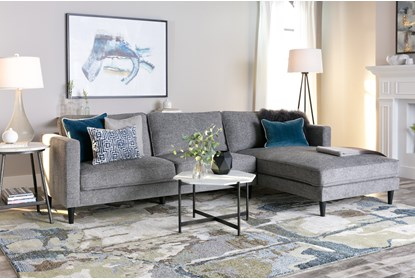 Cosmos Grey 2 Piece 112 Sectional With Right Arm Facing Chaise Living Spaces