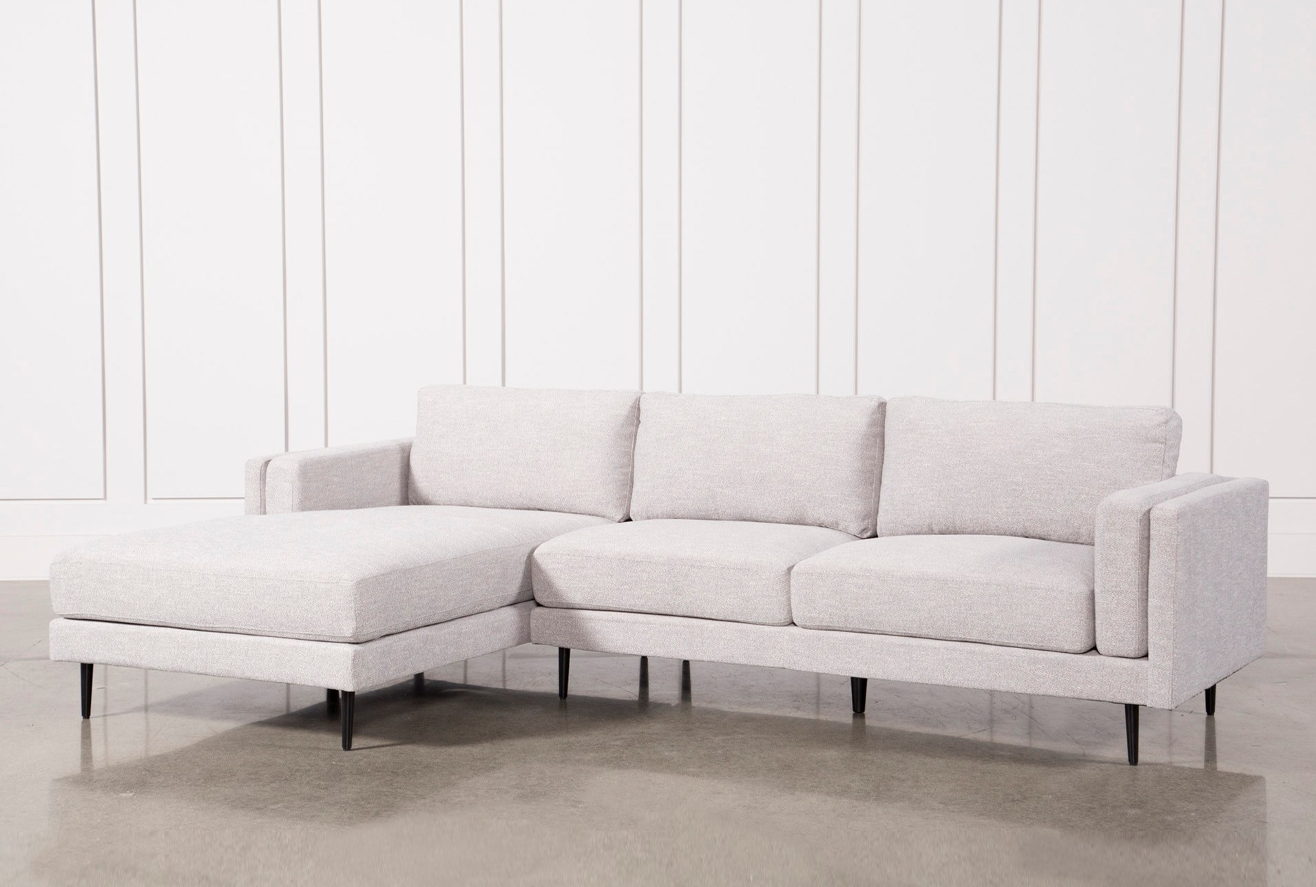 Aquarius Light Grey 2 Piece Sectional W Laf Chaise Living Spaces