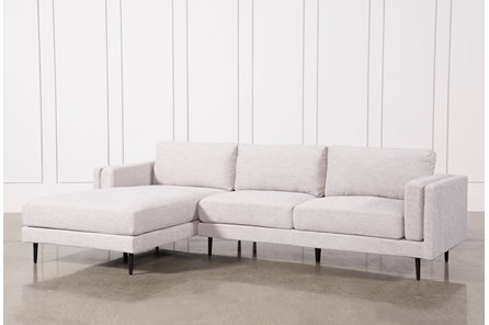 Aquarius Light Grey 2 Piece Sectional With Left Arm Facing Chaise