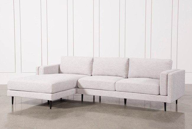 Aquarius Light Grey 2 Piece Sectional W/Laf Chaise - 360