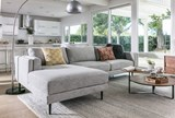 Aquarius Light Grey 2 Piece Sectional W/Laf Chaise - Room