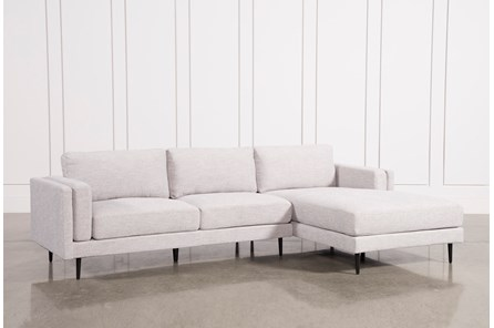 Aquarius Light Grey 2 Piece Sectional With Right Arm Facing Chaise