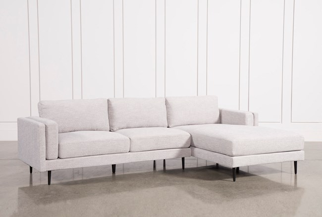 Aquarius Light Grey 2 Piece Sectional W/Raf Chaise - 360