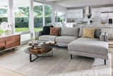 Aquarius Light Grey 2 Piece Sectional W/Raf Chaise - Room