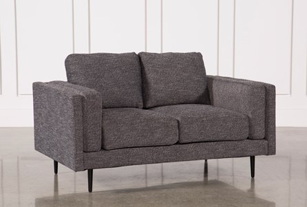 Aquarius Dark Grey Loveseat