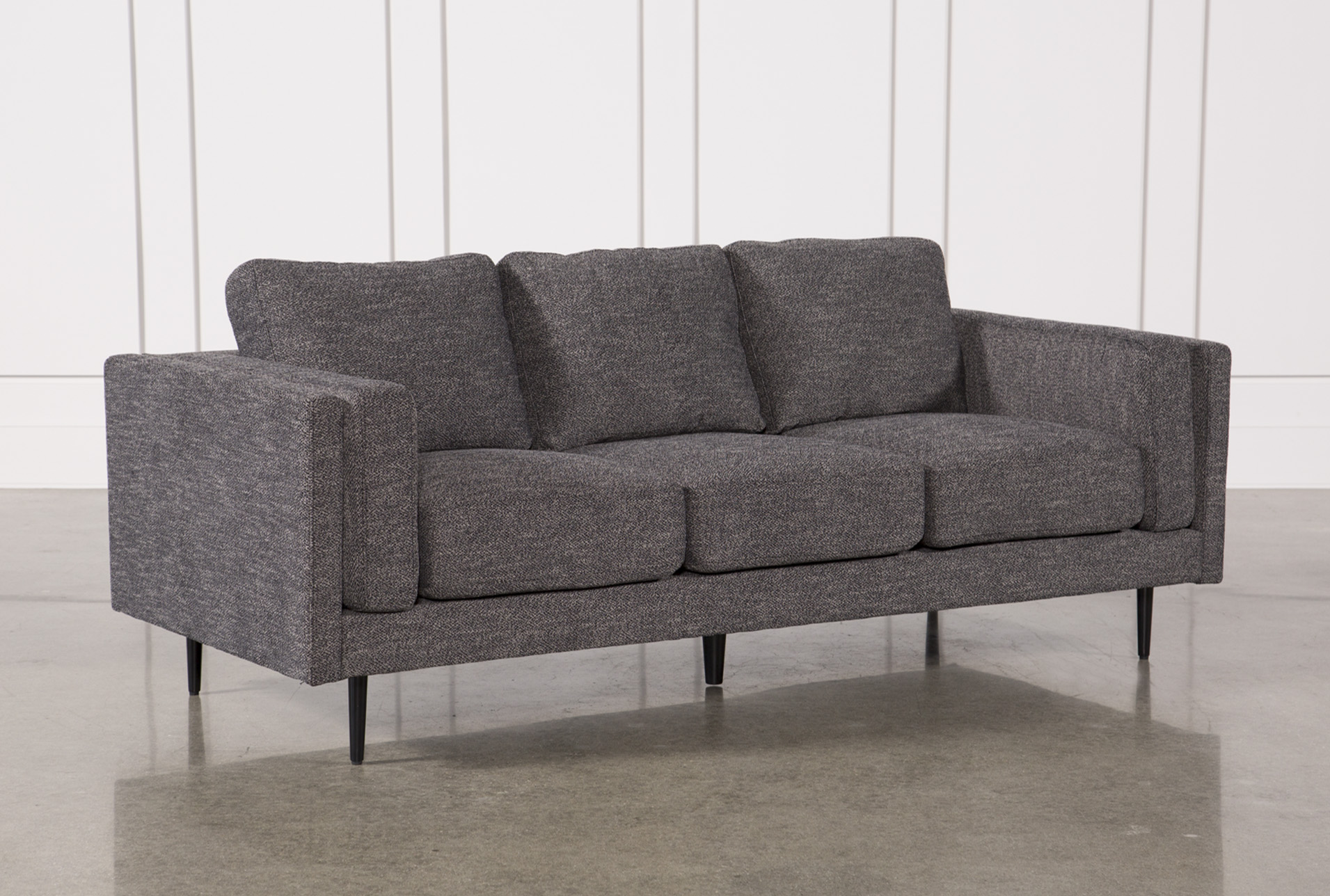 Classic modern outdoor furniture design ideas grace Round Aquarius Dark Grey Sofa Living Spaces Living Room Furniture To Fit Your Home Decor Living Spaces