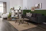 Aquarius Dark Grey Sofa - Room