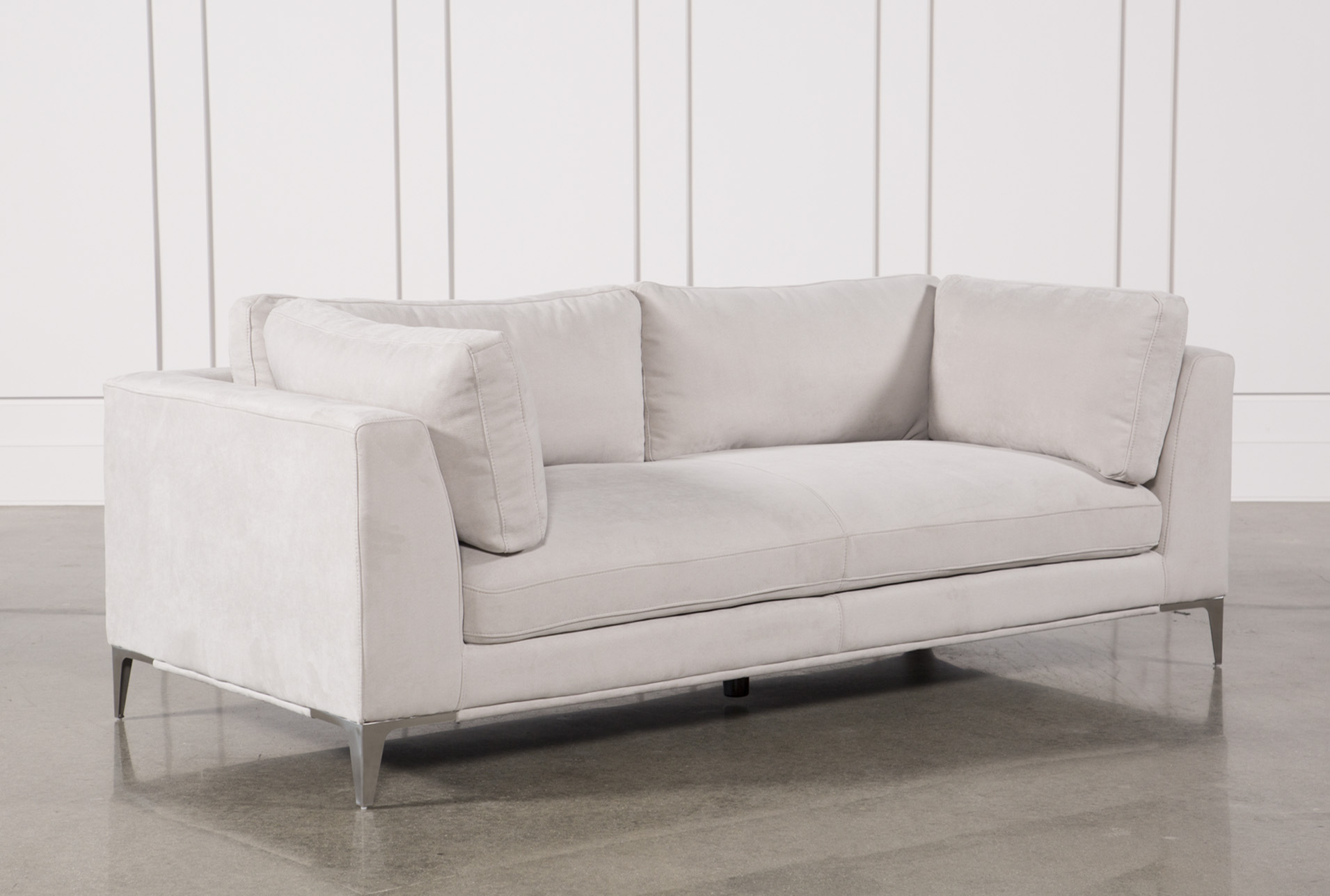 apollo light grey sofa w 2 pillows living spaces rh livingspaces com light grey sofa set light gray sofa sectional