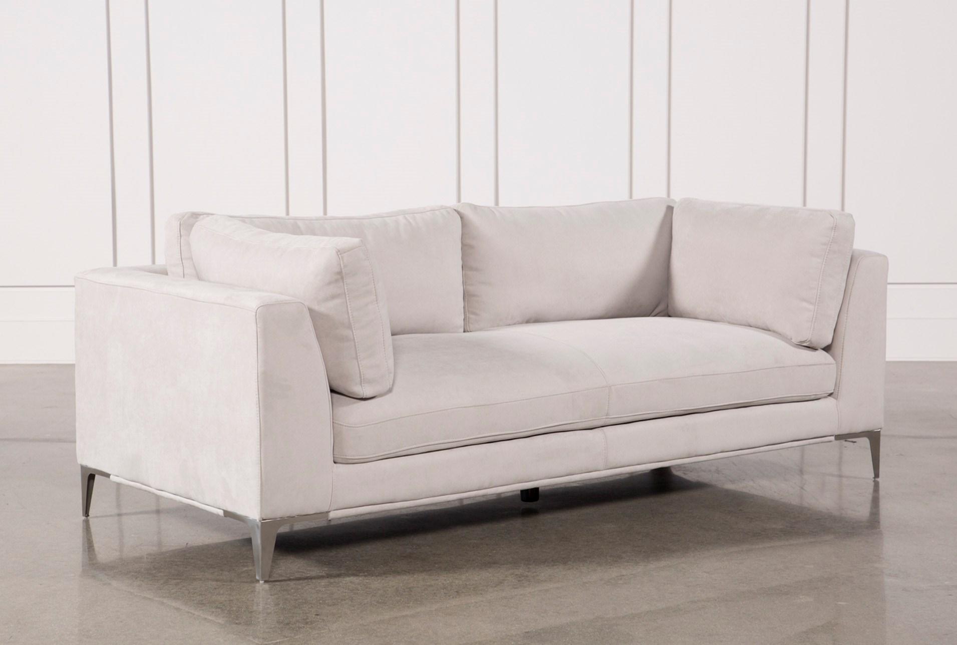 apollo light grey sofa w 2 pillows living spaces