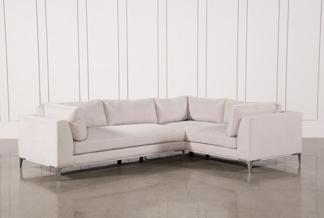 Apollo Light Grey 2 Piece Sectional - 360
