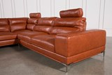 Tenny Cognac 2 Piece Left Facing Chaise Sectional W/2 Headrest - Right