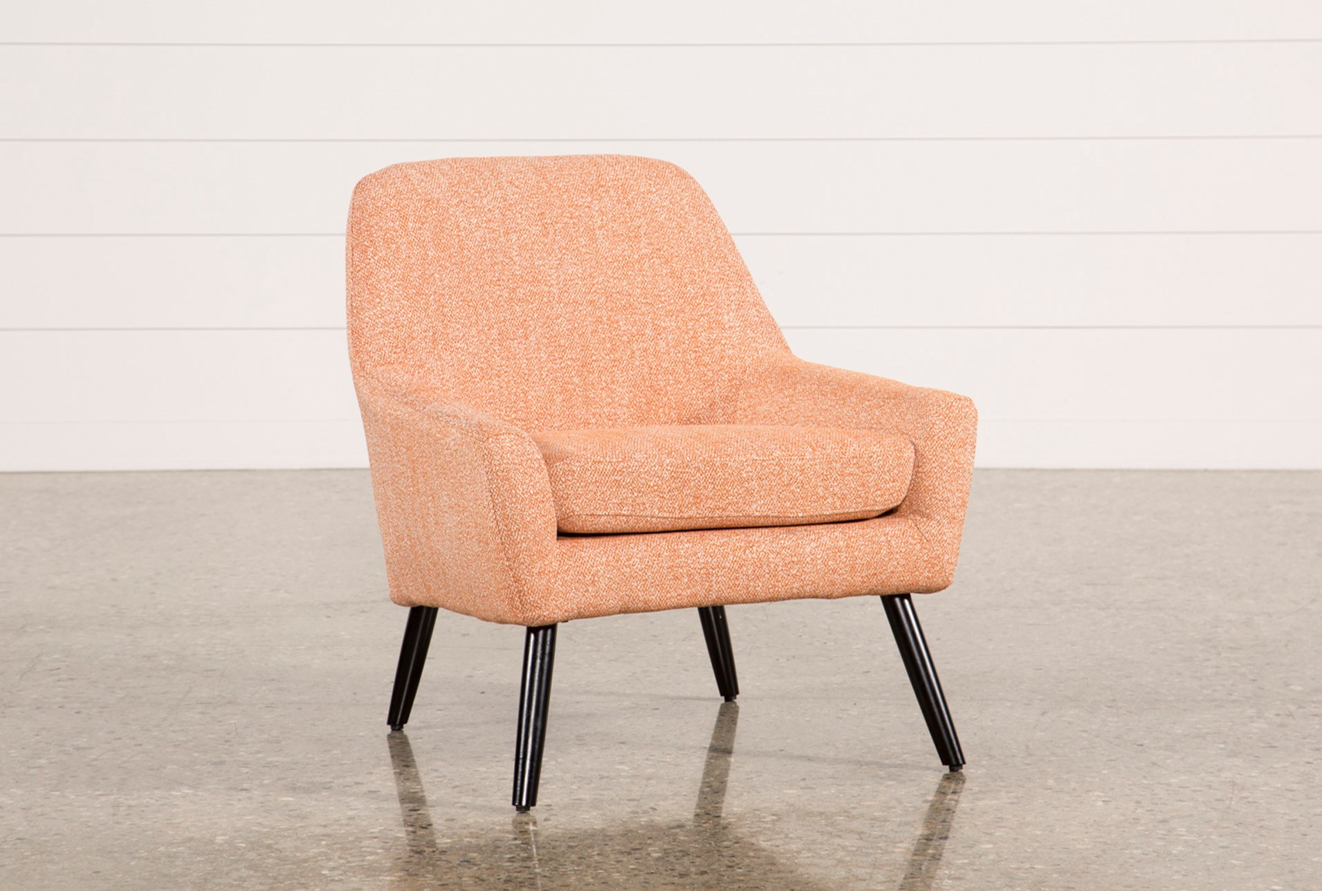 Living Spaces Accent Chairs : Celeste Orange Accent Chair  Living Spaces