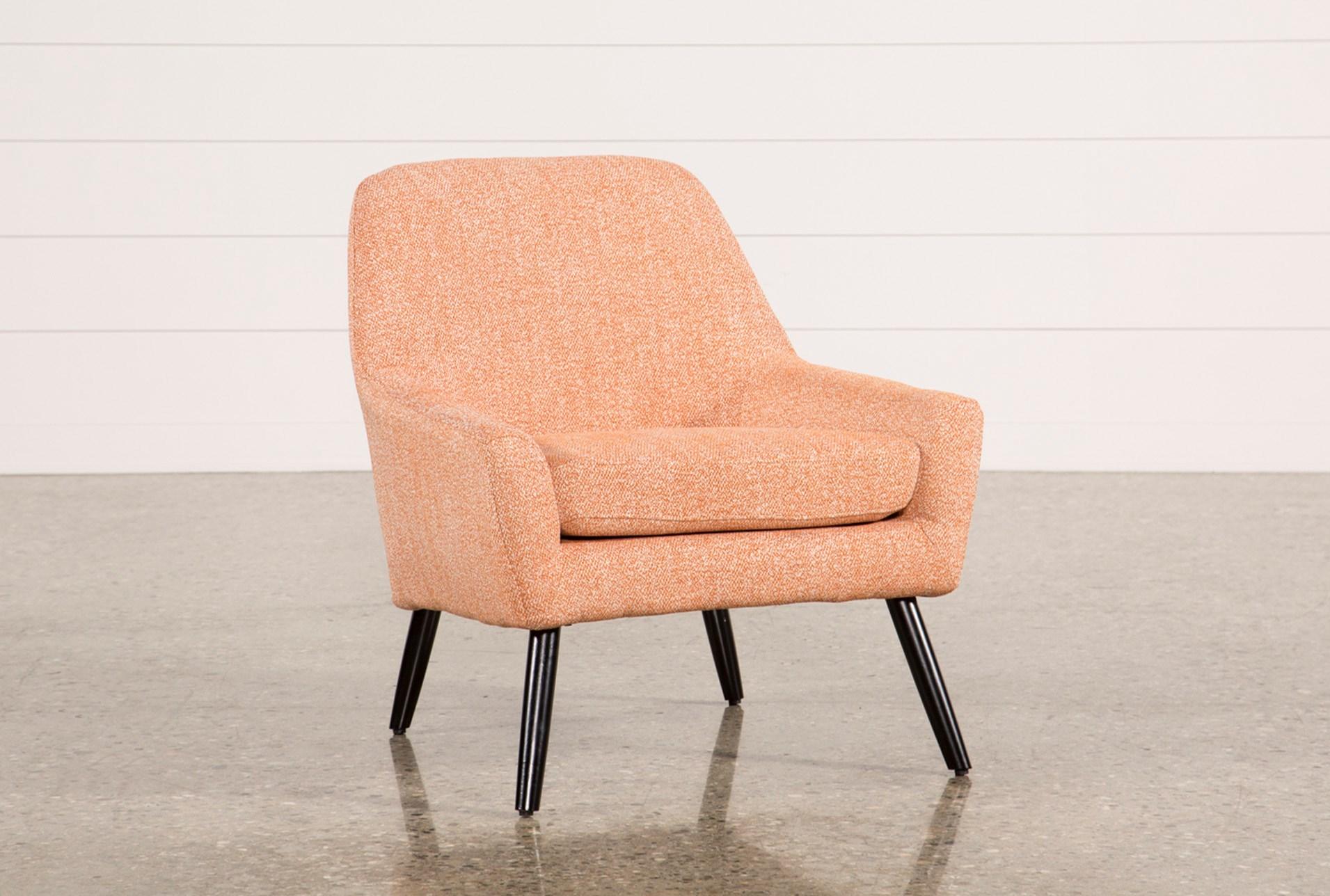 Celeste orange accent chair