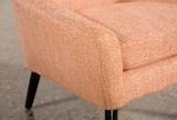 Celeste Orange Accent Chair - Top