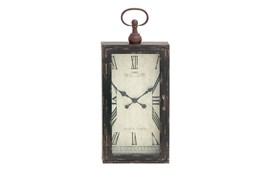 28 Inch Rustic Wood Metal Wall Clock