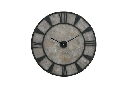 35 Inch Black And Grey Metalwall Clock