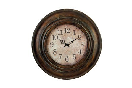 24 Inch Bronze Round Wall Clock - Main