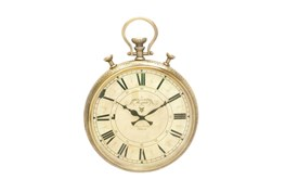 17 Inch Gold Wall Clock