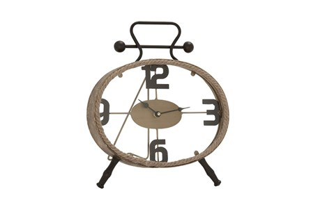13 Inch Metal Rope Clock