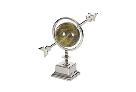 14 Inch Silver & Black Globe