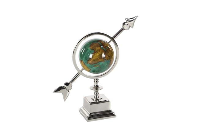 14 Inch Silver & Turq Globe - 360