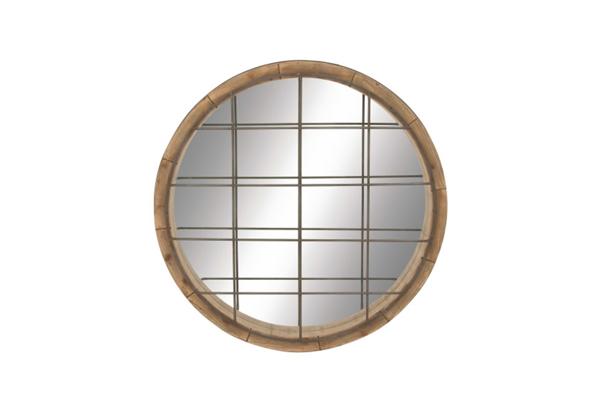 Display Reviews For 48 Inch Wood Metal Grid Wall Mirror