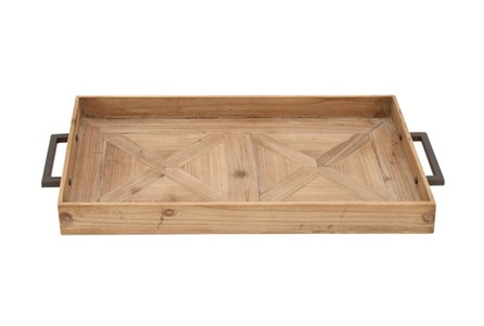 3 Inch Wood Metal Tray