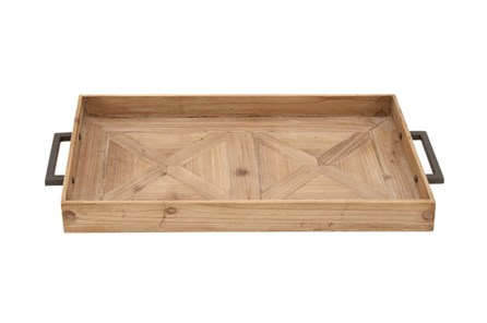 3 Inch Wood Metal Tray - Main