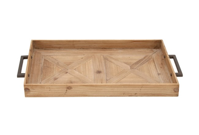3 Inch Wood Metal Tray - 360
