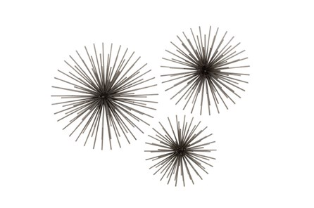 3 Piece Set Starburst Wall Decor - Main