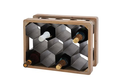 18 Inch Mixed Material Wine Holder - Main