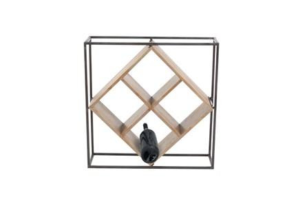 19 Inch Mixed Media Wine Rack - Main