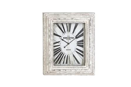28 Inch White Kensington Wall Clock - Main
