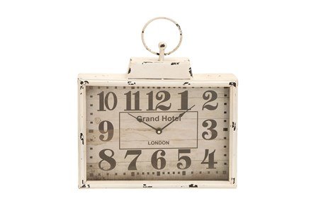 15 Inch White Grand Hotel Wall Clock