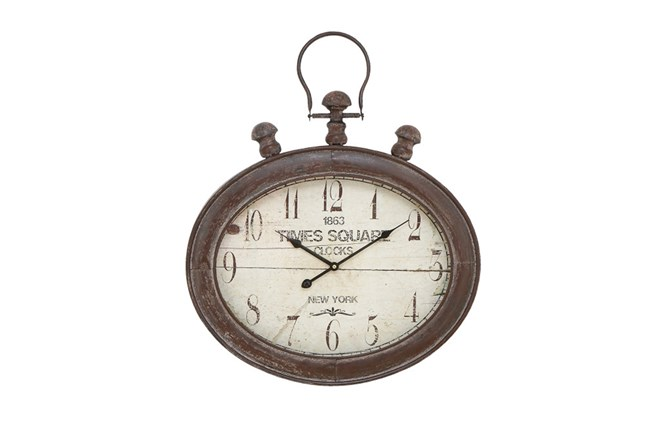 21 Inch Time Square Wall Clock - 360