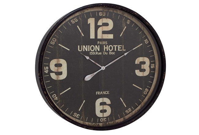 35 Inch Union Hotel Wall Clock - 360