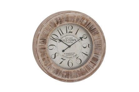 31 Inch Old Town Wall Clock - Main