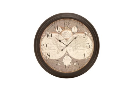 37 Inch Atlas Wall Clock - Main