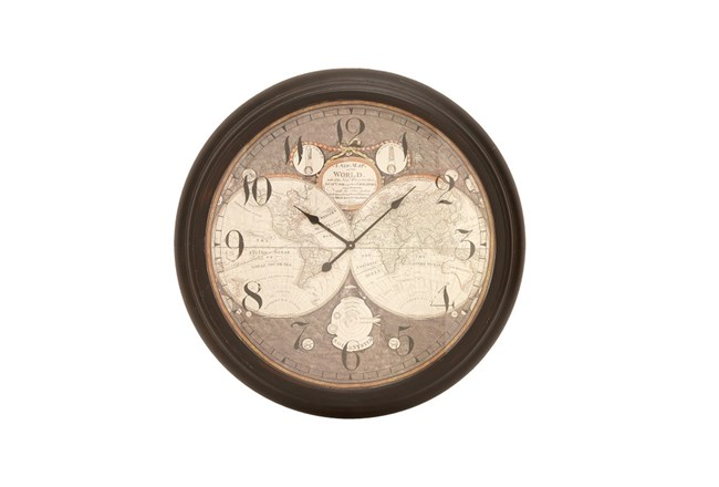 37 Inch Atlas Wall Clock - 360
