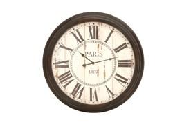 37 Inch Paris Metal Wall Clock