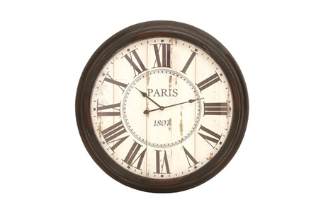 37 Inch Paris Metal Wall Clock - Main