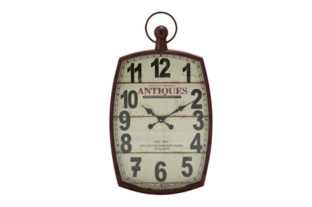 33 Inch Mixed Media Wall Clock