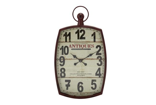 33 Inch Mixed Media Wall Clock - 360