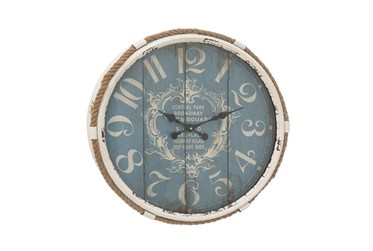 25 Inch Metal Rope Glass Wall Clock