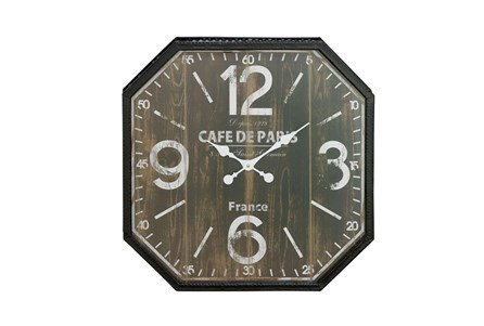 24 Inch Cafe De Paris Wall Clock