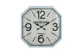 24 Inch Silver Cafe De Paris Wall Clock