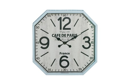 24 Inch Silver Cafe De Paris Wall Clock