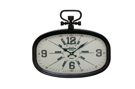 16 Inch Kensington Black Wall Clock