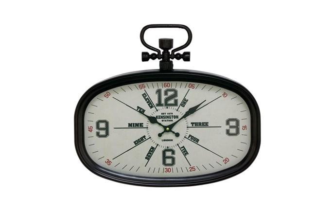 16 Inch Kensington Black Wall Clock - 360